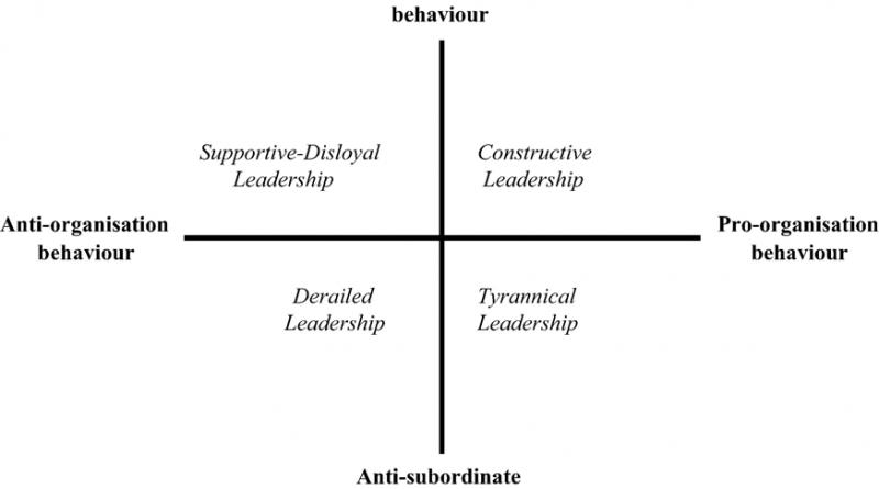 Conceptual model of leadership behaviour