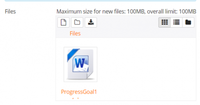 Private files space