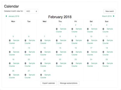 Courses to Calendar plugin