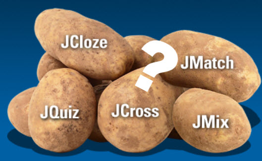 Hot Potatoes with question mark